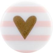 """Pink Stripe - Sweet Shimmer Buttons 1"""" 2/Pkg"""