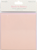 "Perfectly Pink - Dovecraft Back To Basics Cards W/Envelopes 6""X6"" 12/Pkg"