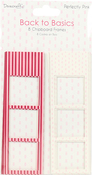 Perfectly Pink - Dovecraft Back To Basics Chipboard Photo Frames 8/Pkg
