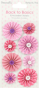 Perfectly Pink - Dovecraft Back To Basics Accordion Stickers 8/Pkg
