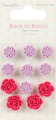 Perfectly Pink - Dovecraft Back To Basics Resin Flowers 11/Pkg