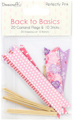 Perfectly Pink, 20 Flags & 10 Sticks - Dovecraft Back To Basics Garland Flags