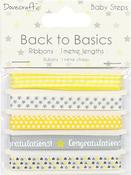 Baby Steps - Dovecraft Back To Basics Ribbon Pack 5/Pkg