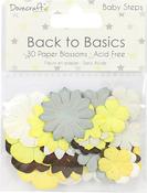 Baby Steps - Dovecraft Back To Basics Paper Blossoms 30/Pkg