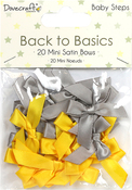 Baby Steps - Dovecraft Back To Basics Mini Satin Bows 20/Pkg