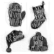 Carved Christmas #1 Tim Holtz Cling Stamps