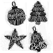 Carved Christmas #2 Tim Holtz Cling Stamps