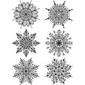 Swirly Snowflakes Tim Holtz Cling Stamps