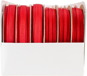 Red - Simply Grosgrain Boxed Ribbon Assortment 24/Pkg