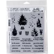 Watercolor Trees Tim Holtz Cling Stamps