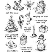 Tattered Christmas Tim Holtz Cling Stamps