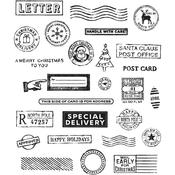 Holiday Postmarks Tim Holtz Cling Stamps