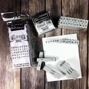 """Free Hand - .25"""" - Brutus Monroe Pegz Font Stamp Set 36pcs"""