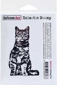 """Sitting Cat - Darkroom Door Cling Stamp 3""""X2"""""""