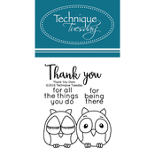 "Thank You Owl - Technique Tuesday Clear Stamps 2""X2.5"""