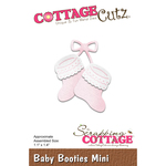 "Baby Booties Mini 1.1""X1.4"" - Cottagecutz Die"