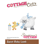 "Sweet Baby Lamb 2""X2.1"" - Cottagecutz Die"