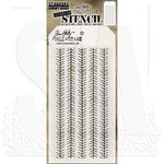 "Tinsel - Tim Holtz Layered Stencil 4.125""X8.5"""