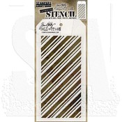 "Peppermint - Tim Holtz Layered Stencil 4.125""X8.5"""