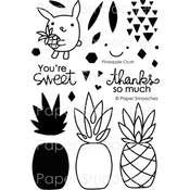 """Pineapple Crush - Paper Smooches Clear Stamps 4""""X6"""""""