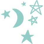 "Moon Stars .25"" To 1.25"" - Kaisercraft Decorative Die"