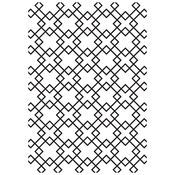 "Diamond Tiles - Kaisercraft Embossing Folder 4""X6"""