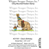 """Cleo's Birthday - Whipper Snapper Cling Stamp 4""""X6"""""""