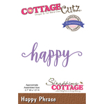 "Happy 3.7""X1.5"" - CottageCutz Expressions Plus Die"