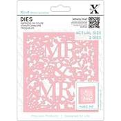 Mr & Mrs - Xcut Decorative Dies 2/Pkg