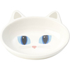White - PetRageous Frisky Kitty Oval Saucer 5.3oz Hand-crafted and oven-fired stoneware saucers for cats. Dishwasher and microwave safe. This package contains one kitty saucer measuring 5.25x4x1.375 inches. Imported.