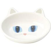 White - PetRageous Frisky Kitty Oval Saucer 5.3oz