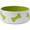 Lime Green - PetRageous Designs Kool Bones Bowl - Holds 3.5 Cups Hand-crafted stoneware in a variety of patterns, colors and sizes. Dishwasher and microwave safe. This package contains one pet bowl that holds 3.5 cups. Comes in a variety of designs. Each sold separately. Imported.