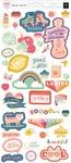 Girl Cardstock Stickers - Wild Child - Pink Paislee