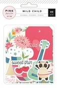 Girl Ephemera - Wild Child - Pink Paislee