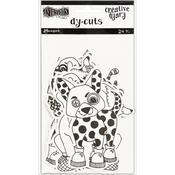 Black & White Animals Dylusions Creative Dyary Die Cuts