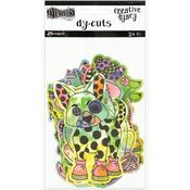 Colored Animals Dylusions Creative Dyary Die Cuts