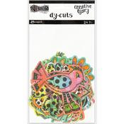 Colored Birds & Flowers Dylusions Creative Dyary Die Cuts