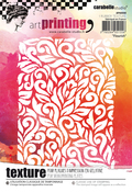 Flourish - Carabelle Studio Art Printing A6 Rubber Texture Plate