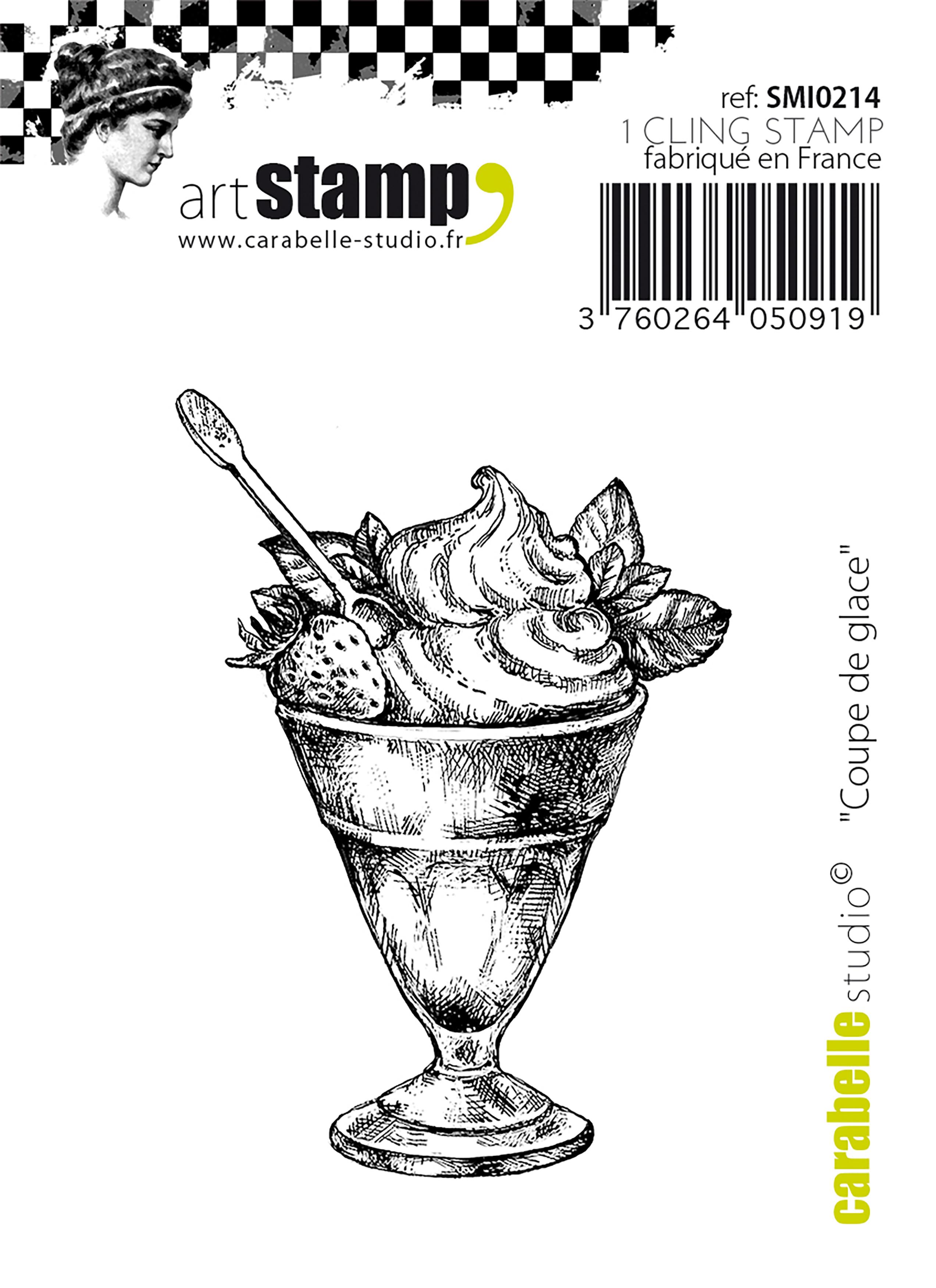 Mini Ice Cream Sundae - Carabelle Studio Cling Stamp Small 2.56
