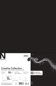 "Epic Black - Creative Collection Cardstock Pack 11""X17"" 50/Pkg"
