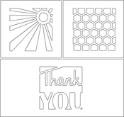 """Thank You Squares 1.7""""X5"""" - Penny Black Creative Dies"""