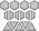 Quilt It-Gems Quilt - Spellbinders Shapeabilities Die D-Lites By Lene Lok