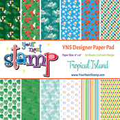 "Island Fun - Your Next Stamp Paper Pad 6""X6"" 24/Pkg"