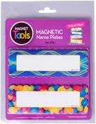 """Circles & Ribbons - Magnetic Name Plates 6""""X2"""" 16/Pkg"""
