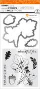 "Thanksgiving Leaves - Hampton Art Clear Stamp & Die Set 4""X8"""