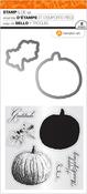"Gratitude Pumpkins - Hampton Art Clear Stamp & Die Set 4""X8"""