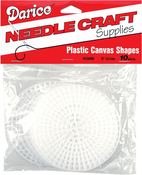"Circles Clear - Plastic Canvas Shapes 7 Count 3"" 10/Pkg"