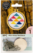 Circle W/ Ball Chain - Embroidery Hoop Necklace Punched For Cross Stitch
