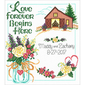 "10.5""X11.5"" 14 Count - Country Wedding Counted Cross Stitch Kit"