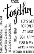 "Together - Neat & Tangled Clear Stamps 4""X6"""